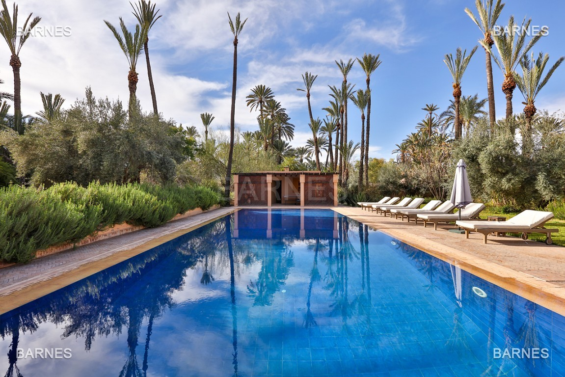 Très belle villa de style Marocain et art déco située dans un secteur de la palmeraie calme et accessible .  Parc sublime, villa principale avec piscine et maison d'ami avec piscine . picture 13