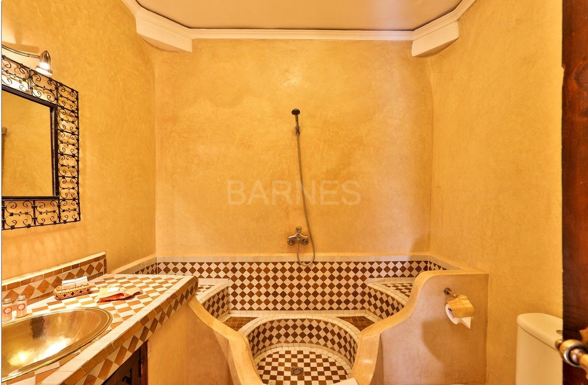 Riad guest house , 2 patios, pool , 10 bedrooms, 10 bathrooms , fireplace lounge, dining room , steam room, massage rooms , terrace picture 16