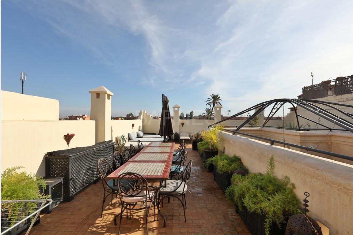 Riad maison d'hôtes, 7 chambres, 7 salles de bains, patio piscine, bhou (salon ouvert), cheminée, salle à manger, terrasse picture 5